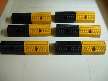 橡胶挡车器 车位安装橡胶挡车器 挡车杆橡胶挡车垫 橡胶停字定位器