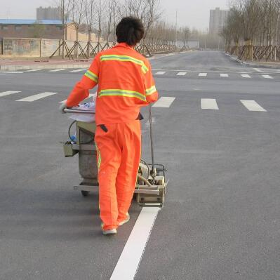 title='热熔车位划线 地面标识道路划线施工'
